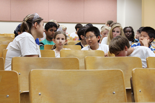 Students at a 2013 session of Chemistry Camp
