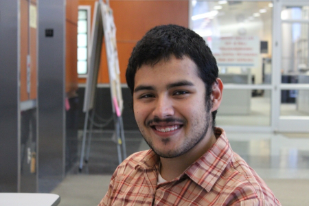 Nicolas Padilla, a junior chemistry major, was awarded the Saco Polymers Scholarship in 2015.