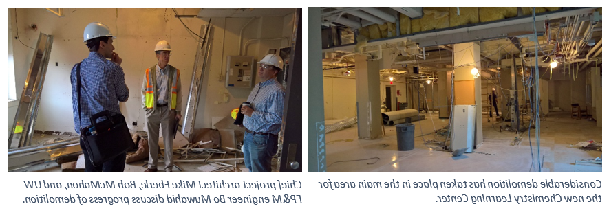 construction workers inside the new building